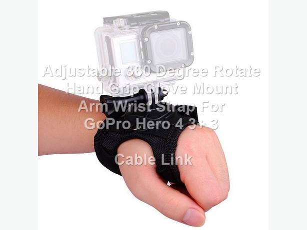 New 360° Rotation Heavy Duty Hand Glove Strap Band Mount for Gopro
