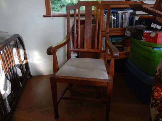 Old English oak chairs