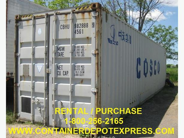 NEW OR USED STEEL STORAGE CONTAINER AVAILABLE