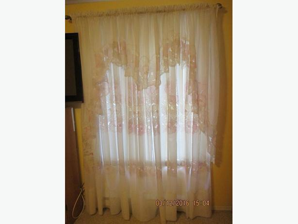 Sheer Curtains w/ embroidered design