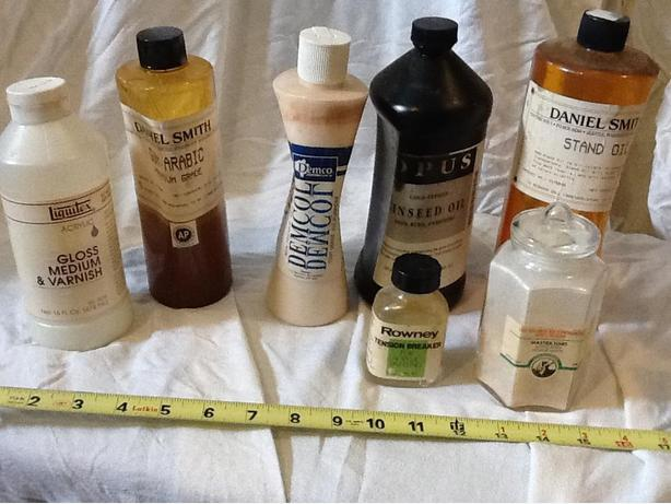 Artists' Oils, Glazes, Gums, Tension Breaker & Mastiek Hars