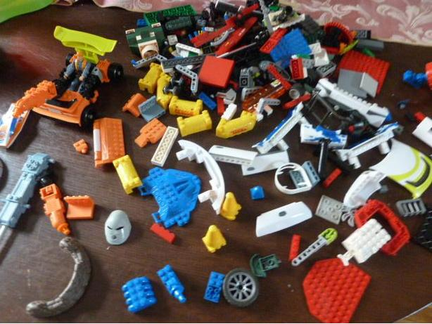 A bag full of Legos from different sets