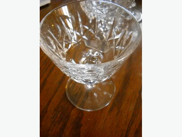4U2C CRYSTAL SET OF 5 SHERBET GLASSES, CROSS and OLIVE PATTERN