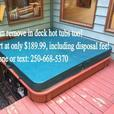 Hot Tub Removal and Disposal Service. Nanaimo Parksville Qualicum Ladysmith