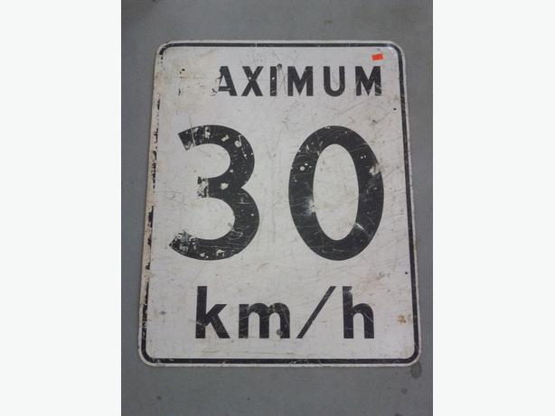 30 Km/Hr Sign