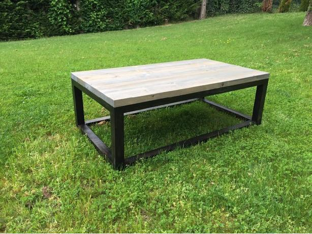 Faux Industrial Coffee Table