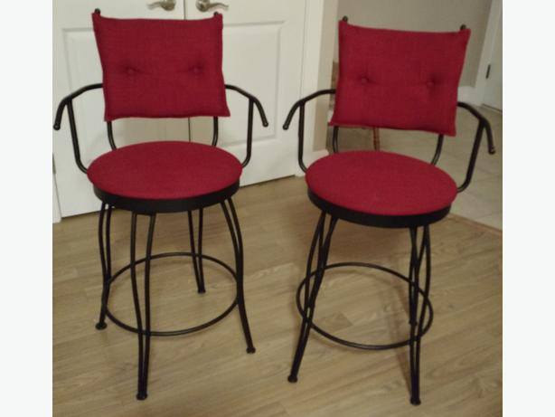 2 Upholstered Counter Height Stools