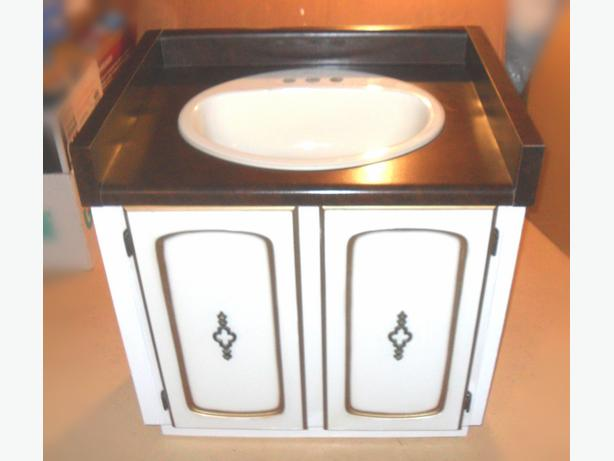 Good Condition 30 in. Wide Vanity with Vinyl Top and Sink