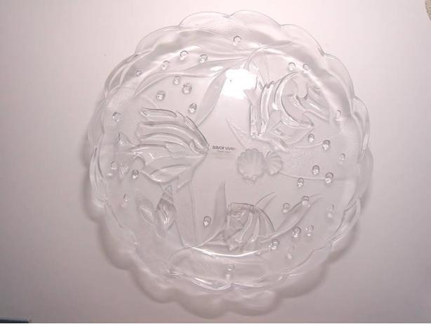 "SAVOIR VIVRE CRYSTAL - Laguna 15"" Round Platter (WY071/601)"