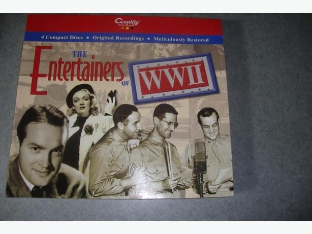 THE ENTERTAINERS OF WWII   NEW IN ORIGINAL COVER 48 songs