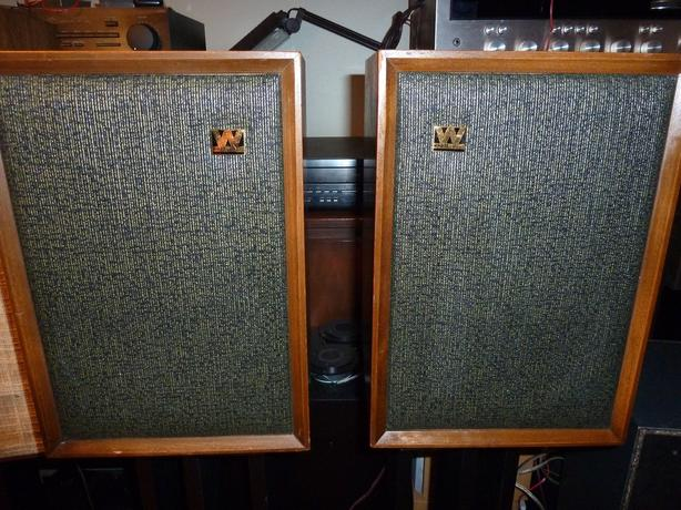 Wharfedale Denton W20d Vintage Bookshelf Speakers Wood