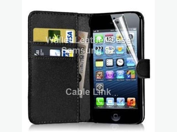 Magnetic Wallet Flip Leather Case Flip Cover For Samsung S2