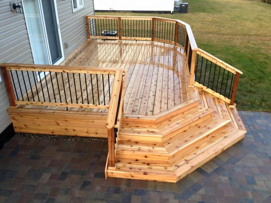 2x6 western red cedar decking outside alberni valley alberni for Timber deck construction