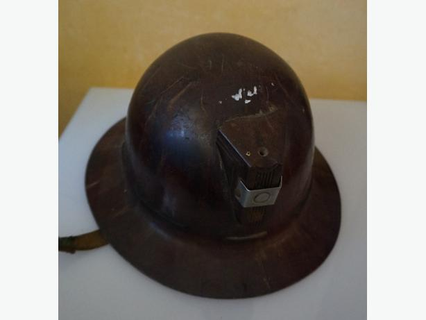 4U2C ANTIQUE MINERS HELMET
