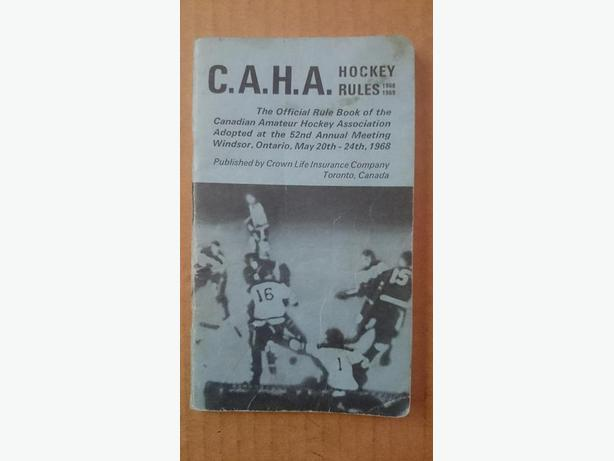 1968-69 CAHA Hockey Rules booklet