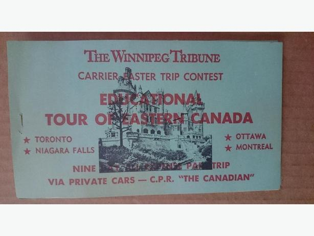 1950's - 1960's Winnipeg Tribune Carrier Easter Trip Contest booklet