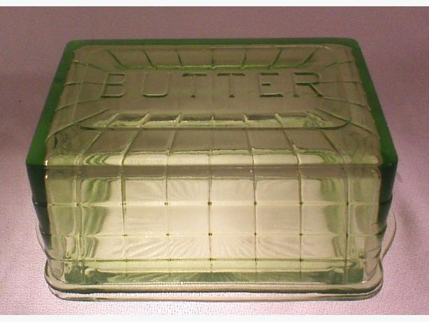 Anchor Hocking Block Optic butter dish