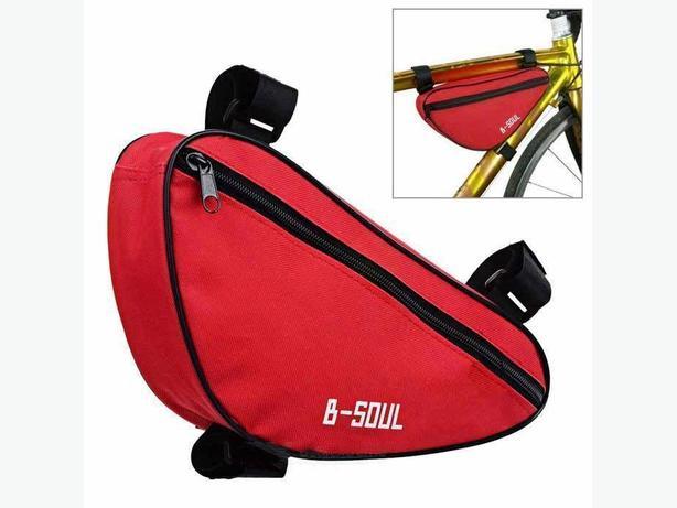 Bicycle Bike Frame Top Tube Triangle Bag 1.5L - Red