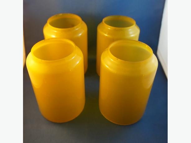 4u2c VINTAGE RETRO YELLOW GLASS LIGHTING SHADES