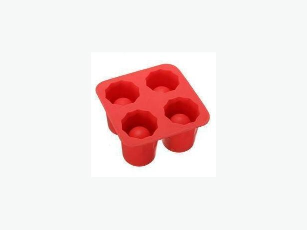 Ice Shooter Shot Glass Mold - Red
