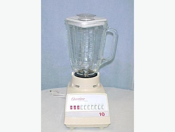 Osterizer 10 speed Speed White/Ivory Blender~Glass Pitcher~Exc!