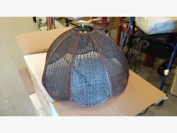 Wicker Shade Ceiling Light (2)