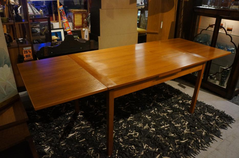 Extendable Mid Century Teak Dining Table with 2 Leaves i  : 53707590934 from www.usedvictoria.com size 934 x 620 jpeg 84kB