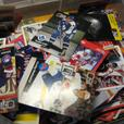 super pile of hockey cards some baseball