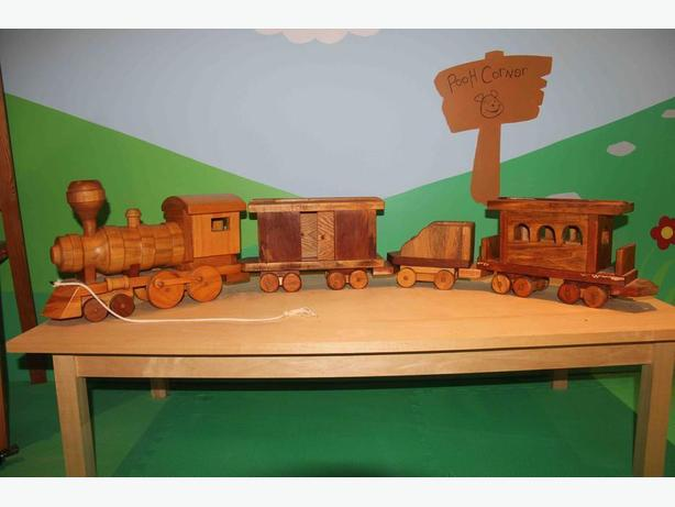 Solid Wooden Pull Along Train