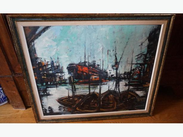 4u2c OIL ON BOARD PAINTING Stuart de Wilden