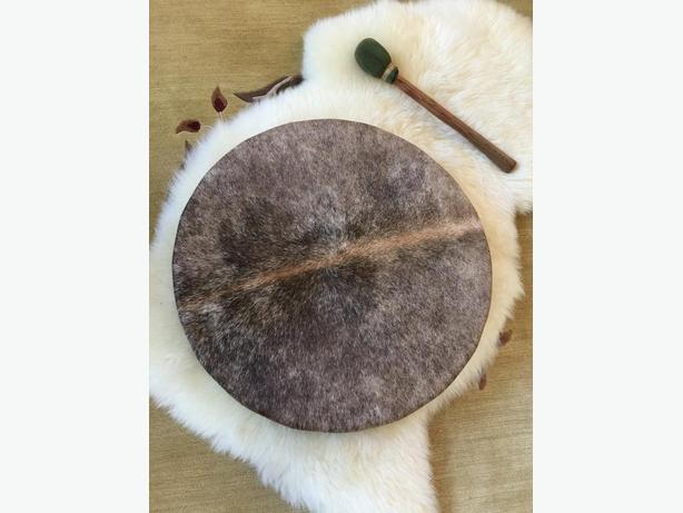 """20"""" ceremonial hand drum & mallet"""