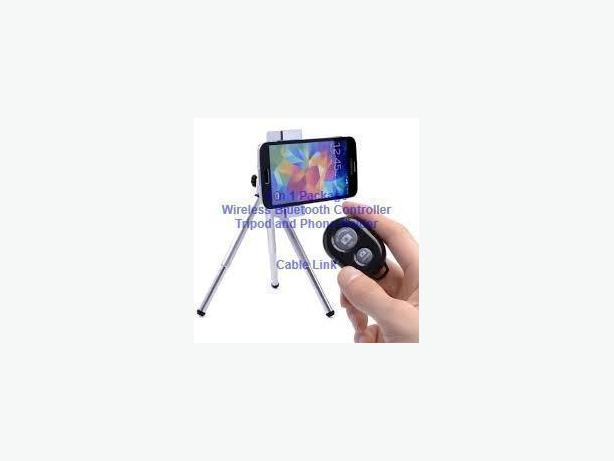 3 in 1 Value Package: Bluetooth Remote, Tripod and Holder