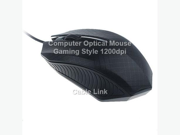 Computer Desktop Laptop Wired Mouse Gaming Style 1200dpi