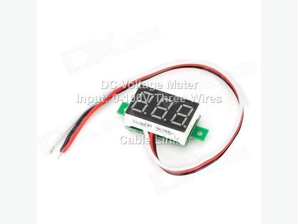 Red LED Panel Voltage Meter 3-Digital 0-100V Voltmeter