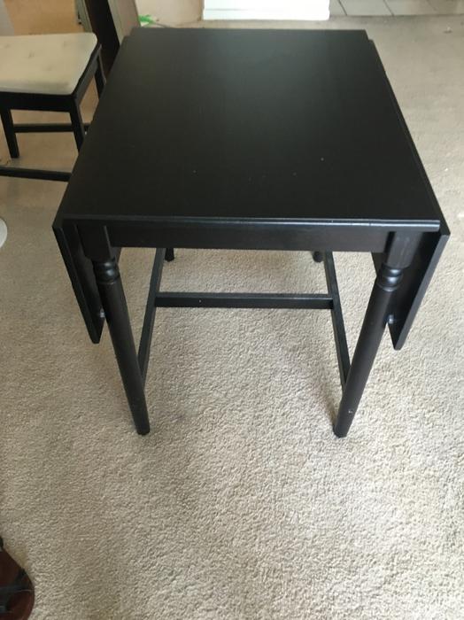 ikea black brown intatorp drop leaf kitchen table central ottawa inside greenbelt ottawa. Black Bedroom Furniture Sets. Home Design Ideas