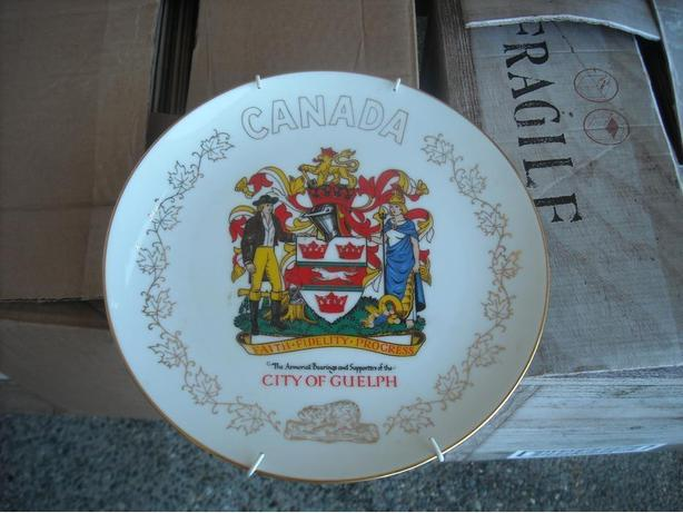 CITY of OLD GUELPH COMMEMORATIVE PLATE...22K GOLD