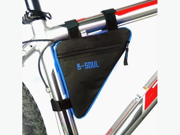 Bicycle Bike Frame Top Tube Triangle Bag 1L - Black/Blue