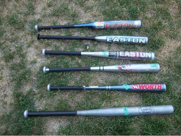 Worth and Easton bats plus 1 Louisville