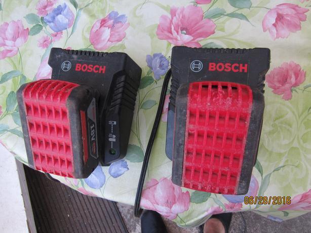 2 - Bosh 18V 4.0Ah Li-on  batteries/ C/W chargers