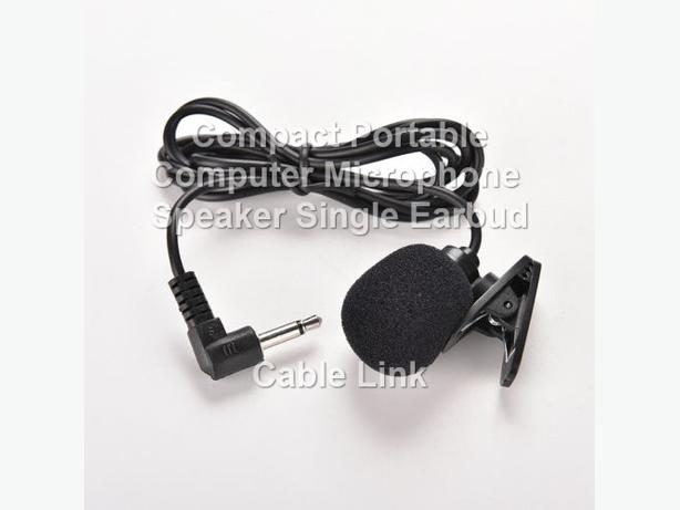 Compact Portable Flexible Computer Microphone/Speaker Single Ear