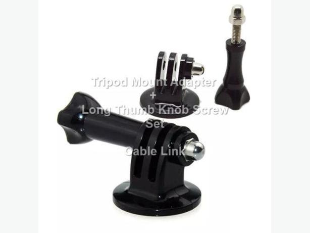 Tripod Mount Adapter and Long Thumb Knob Screw Set for Gopro