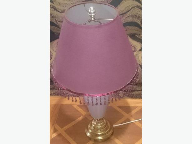 Lavender coloured Lamp