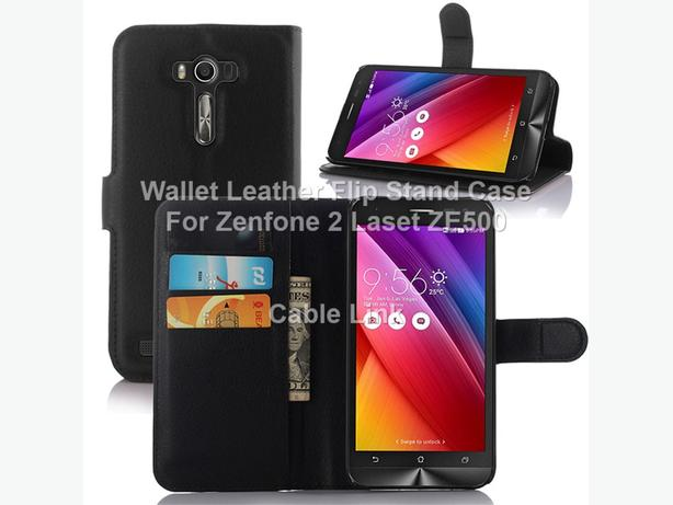 Wallet Leather Flip Stand Case for Asus Zenfone 2 Laser