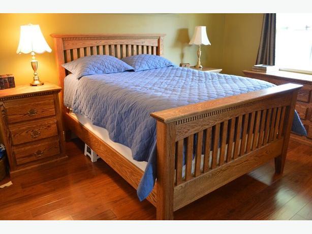 Custom Built Oak Bedroom Suite
