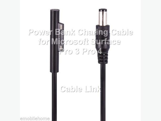 Power Bank DC 12V Charger Cable for Microsoft Surface Pro 3 4