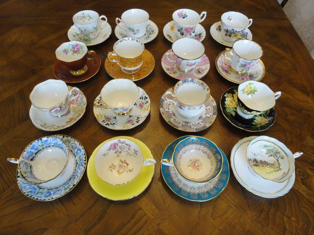 Ninth Lot of VINTAGE England Bone China Tea Cup and Saucer Sets