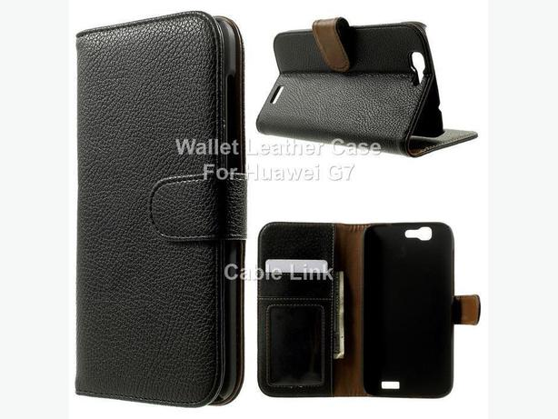 Leather Wallet Card Holder Flip Cover Stand Case For Huawei G7
