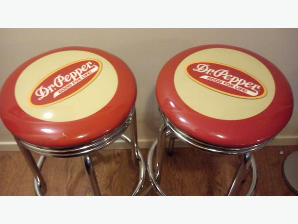 Pair Of Dr Pepper Collectible Bar Stools Saanich Victoria