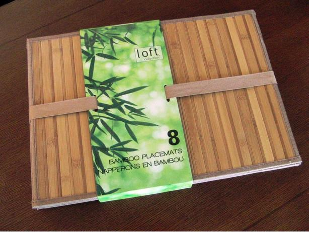 New 8 Bamboo Placemats