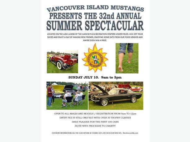 Vima Summer Spectacular Car Show Outside Comox Valley